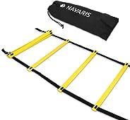 Navaris Scala per Allenamento Calcio 6m - scaletta per Fitness Training Speed Agility Ladder - Scala per Esercizi agilità e v
