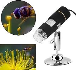 REAL 500X 2MP 8 LED USB Digital Microscope Camera Magnifier Endoscope Video PiC