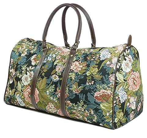 Weekend Reisetasche / Gepäck Tasche / Reisetasche (groß) Moonflowers - Royaltex Gobelin Stil