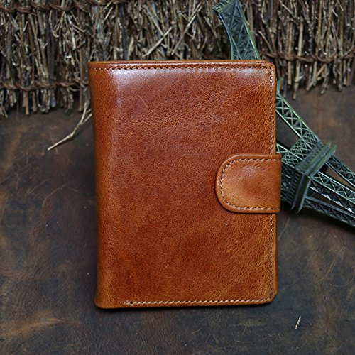 Die Männer Männer Wallet Geldbörse Portemonnaie achtzig Prozent aus männlichen leder kurze vertikale Rindsleder Tasche öl Wachs, Claret claret