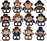 Pack of 12 - Cowboy Finger Puppets - Great Western Cowboy Wild West Party Loot Bag Fillers