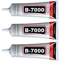 ZHANLIDA Lot de 3 Colle B7000 50 ML Super Glue pour Réparation Pose Téléphones Smartphones Tablettes Bijoux Livres…