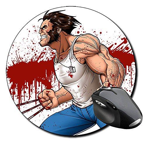 X Men Wolverine Lobezno Alfombrilla Redonda Round Mousepad PC