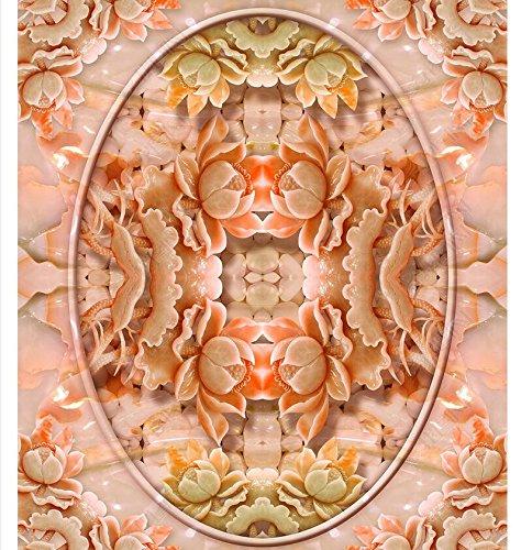 3D Tapeten Boden Aufkleber Pvc-MaterialJade, Der Fliesenboden Des Lotosjade-Musters 3D Schnitzt,300X210Cm Ayzr