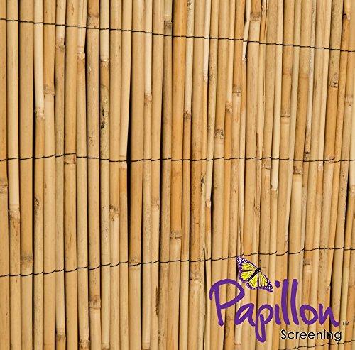 4-panel-dekorative Bildschirm (Bambus Reed Screening Rolle Bildschirm Zaun Garten-Zaun Panel Holz im von Papillon (1m x 4m))