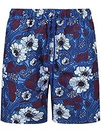 463e1e16d Ben Sherman Men's Woven Swim Short Blue/Fired Brick Floral Negril