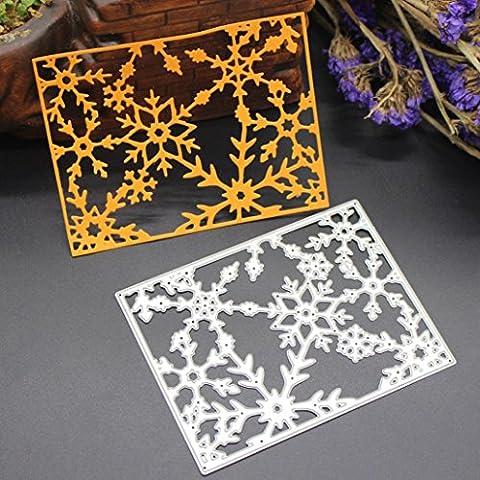 FEITONG Schablonen Weihnachten Metall Schneiden Stirbt Schablonen Scrapbooking Prägung DIY Handwerk Cutting Vorlage (1PC, (Ausschnitte Vorlage)