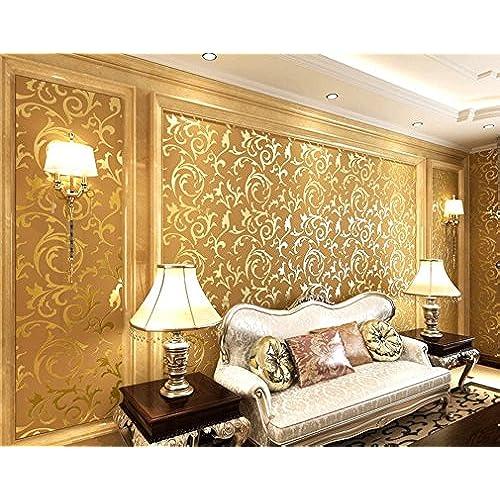 Wallpaper Embossed Gold: Amazon.co.uk