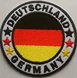 Aufnäher Bügelbild Aufbügler Patch Applikation Kinder Kleidung Fanartikel Deutschland Aufnäher