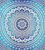 Blaue Tapestry Indian Mandala Teppich Wandteppich, Bettlaken, Dekorationen, Picknick, Boho Bettwäsche Beach Blanket