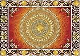 Welt-der-Träume Fototapete Tapete Wandbild Goldene und rote Mandala   P4 (254cm. x 184cm.)   Photo Wallpaper Mural 10372P4-MS   Mandala Indien Indisch Orient Orientalisch Gold