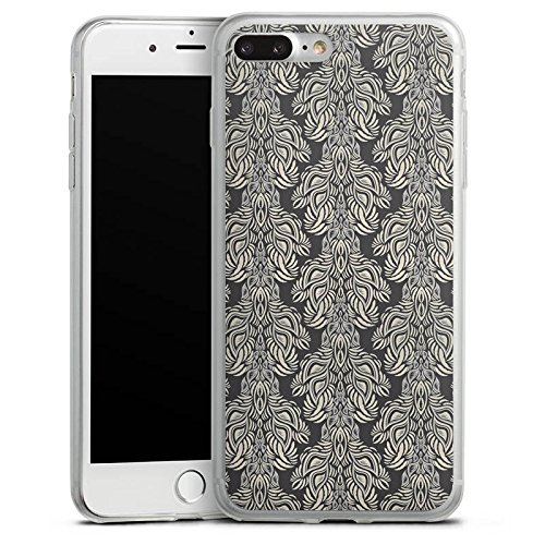 Apple iPhone 8 Slim Case Silikon Hülle Schutzhülle Ornamente Vintage Tapete Silikon Slim Case transparent