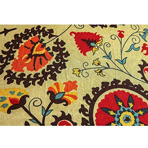 Bolanq, tovaglia da tavolo con motivo a fiori e vento, in lino, cotone, d, taglia libera
