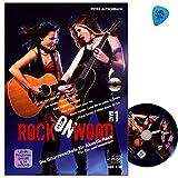 Rock On Wood Band 1 - Gitarrenschule von Peter Autschbach für Akustik Rock - für Ein- und Umsteiger - Gitarrenlehrbuch mit DVD und Dunlop PLEK