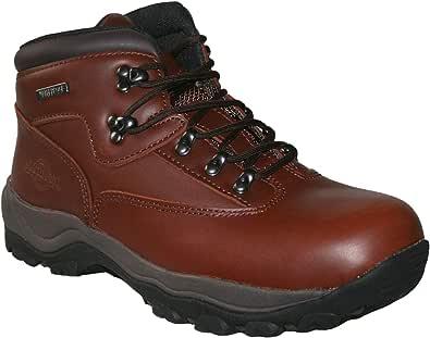 Northwest Territory Mens Leather Waterproof Walking Hiking Trekking Work Boots