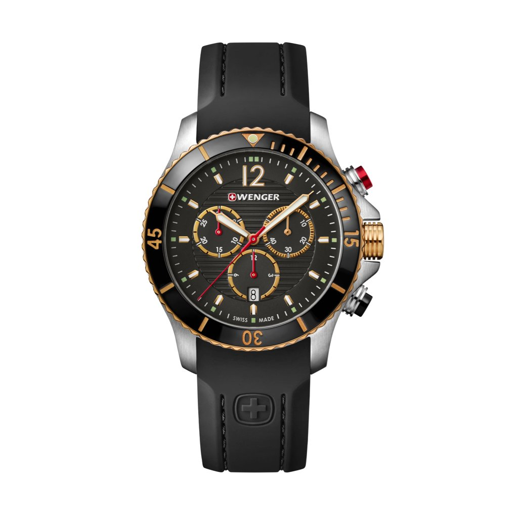 WENGER Mens Analogue Quartz Watch with Silicone Strap 01.0643.112