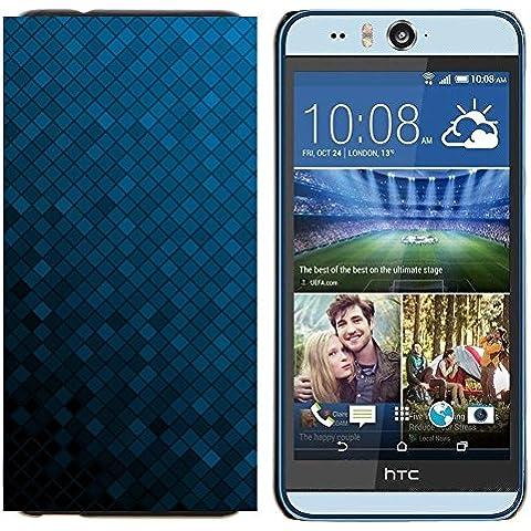 Dura PC Custodia Protettiva Cassa Telefono Caso / Hard Case for HTC Desire Eye M910x / Phone Case TECELL Store / Struttura blu Cubi Texture Blue Cubes
