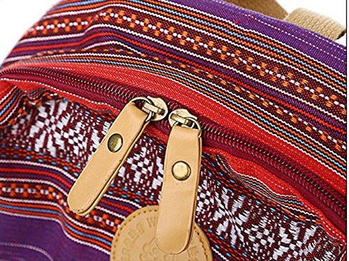 Keshi Leinwand Cool Schulrucksäcke/Rucksack Damen/Mädchen Vintage Schule Rucksäcke mit Moderner Streifen für Teens Jungen Studenten Schwarz