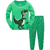TEDD Boys Pyjamas Dinosaur Nightwear Cotton Toddler Clothes Kids Sleepwear Winter Long Sleeve Christmas Pjs Sets 2 Piece Outfit Xmas Gift