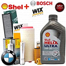 Kit Tagliando aceite Shell Helix 5 W30 6lt 4 filtros Varios 2 filtros Wix, combustible