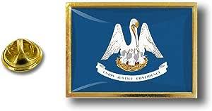 Akacha Spilla Pin pin's Spille spilletta Bandiera Badge USA Americana Louisiana