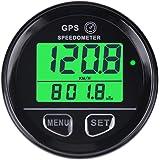 Velocímetro cuentakilómetros GPS digital con retroiluminación de Searon, impermeable, alarma de alta velocidad, compatible co
