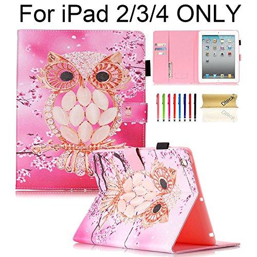 Dteck Tablet-Schutzhülle, apple-ipad-2 apple-ipad-3 apple-ipad-4, 12 Pink Owl, Stück: 1