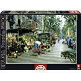 Educa Las Ramblas Barcelona Puzzle (5000 Piece), One Color by Educa