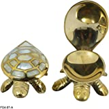 Reiki Crystal Products Vastu - Feng Shui Wish Fulfilling Brass Tortoise/Turtle with Secret Wish Compartment