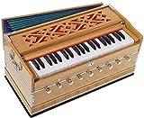 Harmonium Pro grade by Kaayna Musicals, 9stops- 5Main & 4drone, 3½ ottave, accoppiatore, teak colore, borsa imbottita, Bass/maschio Reed tuned- 440Hz, adatto per yoga, Bhajan, Kirtan, shruti, Mantra, ecc.