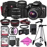 Canon EOS Rebel T6DSLR Kamera mit EF-S 18–55mm f/3.5–5.6IS II Objektiv, EF 75–300mm f/4–5.6III Objektiv, 64GB, zusammen mit digitaluniverse, Reinigungstuch und Deluxe Premium GRATIS ZUBEHÖR Bundle