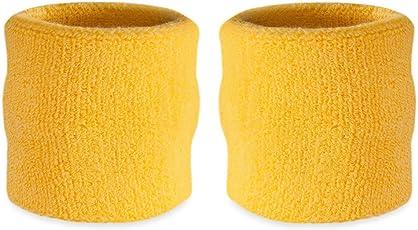 suddora Handgelenk Schweißband–Athletic Baumwolle Frottee Armband für Sport (Paar)