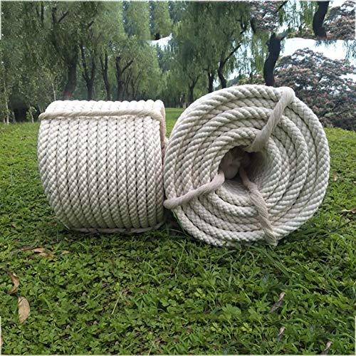 Corde d'escalade Corde de corde de chanvre de 10 mètres de corde de 2mm pour l'étiquette, cadeaux emballant, décoration de mariage, bureau, projets de jardinage dans l'artisanat de style vintage blanc