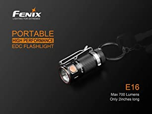 FENIX E16 Mini EDC Taschenlampe mit Maxi Output LD05 V2.0 EDC mit UV Light Penlight Taschenlampe