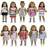ZTITA ELEMENT 8er Puppenkleider Kleidung für 36cm-46cm Babypuppen American Girl Doll Stehpuppen...