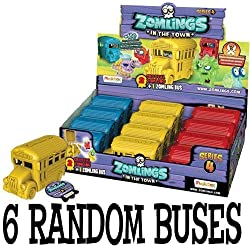 Zomlings Series 4 Bus - 6 random coloured BUSES by Zomlings