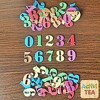 Números adhesivos de goma eva