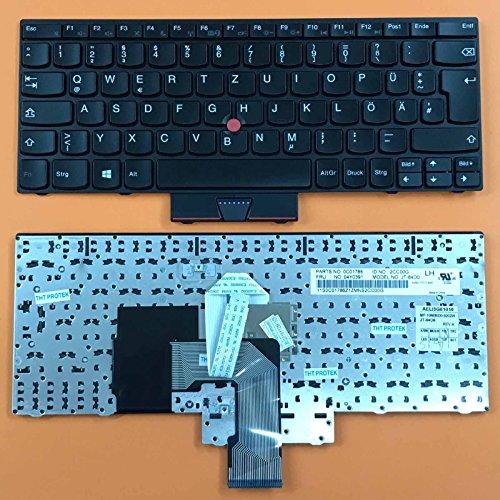 Tastatur - Farbe: schwarz - mit Mausstick - Deutsches Tastaturlayout -