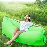 OOFAY Wasserdichtes Haltbares Zusammenklappbares Aufblasbares Luftsofa Für Indoor Outdoor Hangout Air Chair Couch Hängematte Faul Tasche,Green