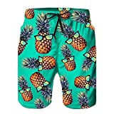 Loveternal Pantalones Cortos para Correr Pantalones Cortos Deportivos para Playa Beach Shorts para Baloncesto con Bolsillos Laterales Azul XL