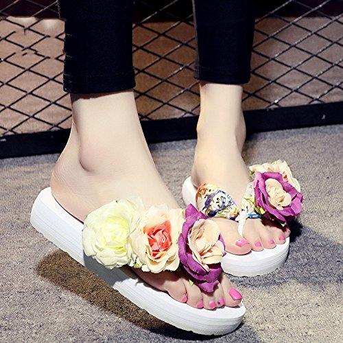 Estate Sandali 3.5cm sandali pistoni delle donne di estate di modo (beige, nero, blu, marrone, rosso, bianco) Colore / formato facoltativo Bianca