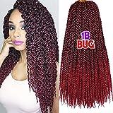 3D Cubic Twist Crochet Zöpfe Haar Kanekalon Braid Synthetische Haarverlängerungen 6 Packungen 22 Zoll 135g/Packungen