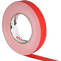 WELSTIK Thin Gaff Tape 25MM*30.2M Gaffa Tape Matt Cloth Tape, Red