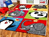 Kinder Teppich Savona Kids Lustige Zootiere Bunt in 5 Größen