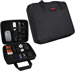 Universal Cable Organizer Electronics Accessories Hard EVA Travel Case/USB Drive Bag by Hermitshell (Large, Black)