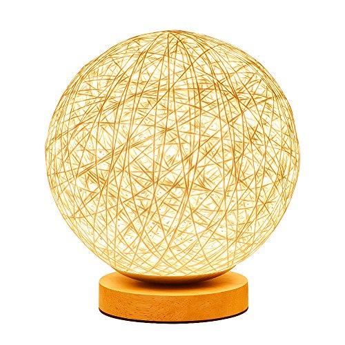 KNONEW Pour Rotin Ball Style Energy Saving Night Light Abat-Jour Maison À Manger Décoration Lampes Lampe de chevet LED Pour Chambre Cadeau. (warm white)