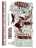 Tic-Tac Tampon en Caoutchouc Transparent Vintage Timbre (Notre Monde) 16x11cm