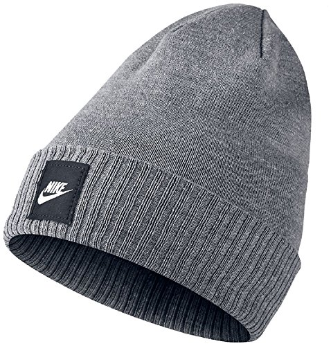 Nike Futura Beanie, Carbon Heather/Black, One Size -