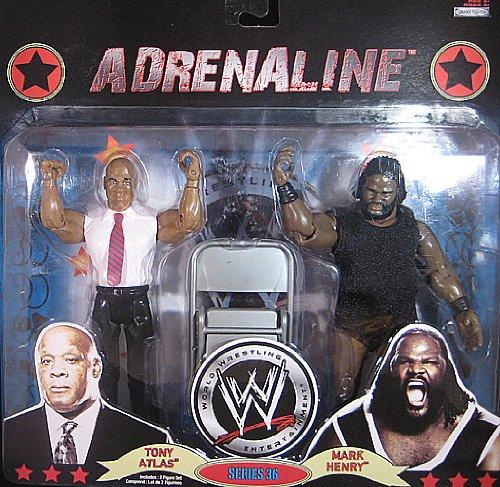 WWE Adrenaline (Series 36) Tony Atlas vs Mark Henry 18cm Figur Satz