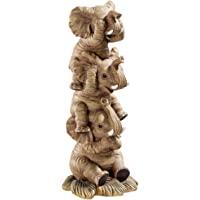Design Toscano Éléphants Maléfiques Empilés Sourd, Muet, Aveugle Statue de Collection, 25.5 cm, polyrésine, palette…